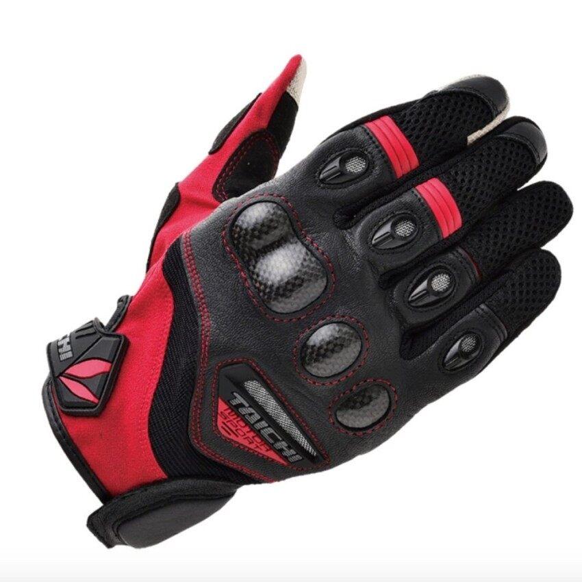 Yxgf Mall RS-TAICHI RST418 Tangan Bersepeda Sarung Tangan Motor Sarung Tangan Merah Withblack-Internasional