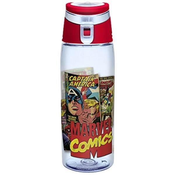 Zak Desain Zak! Desain Botol Air Tritan dengan Flip-Top Cap Menampilkan Retro Komik Marvel Grafis patah dan Bebas BPA Plastik 25 Oz. -Intl