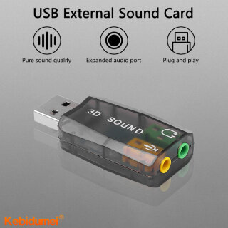 Kebidumei Bộ Chuyển Đổi Card Âm Thanh 3D Gắn Ngoài Âm Thanh 5.1 USB Mini Sang Giao Diện Loa Mic 3.5Mm Cho Máy Tính Xách Tay thumbnail