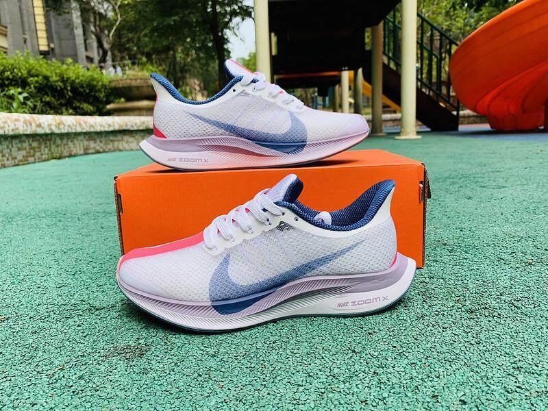 Baru Nike_ZOOM 35X Pria Dpt Dipakai Bernapas Kasual Sepatu Lari Warna: Putih Ungu Muda Ukuran: 36-40