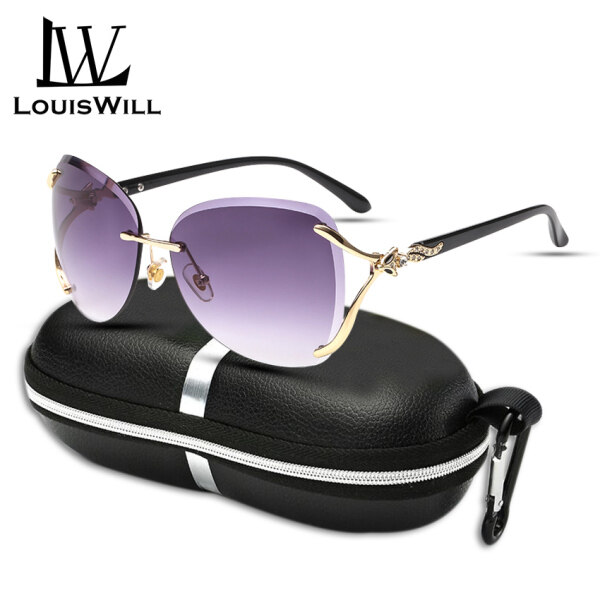 Mua LouisWill Sunglasses Women UV Protection Sunglasses Ladies Sunglasses Gradients Glasses Fashionable Fox Decoration Diamond Trim Style Female Eyewear Sun Glasses for Women with Free Storage Box
