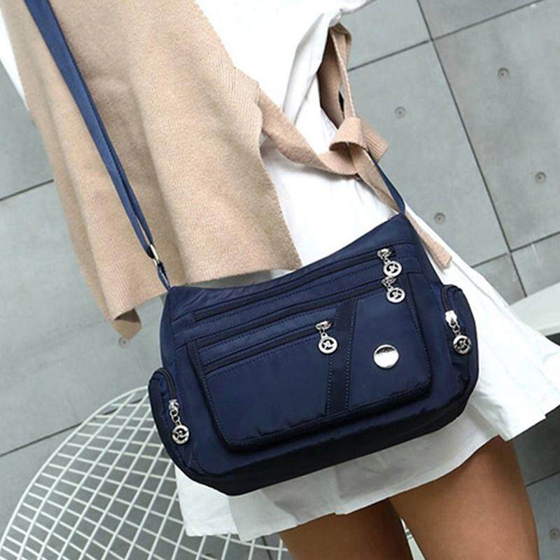 Tas Wanita Tas Jinjing Wanita Dicuci Tas Nilon Ringan Paket Fesyen atau Mode Tas Bahu Tas