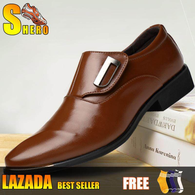 5fb918916ebd SHERO New Trend Men s Formal Business Microfiber Leather Shoes Casual  Formal Shoes