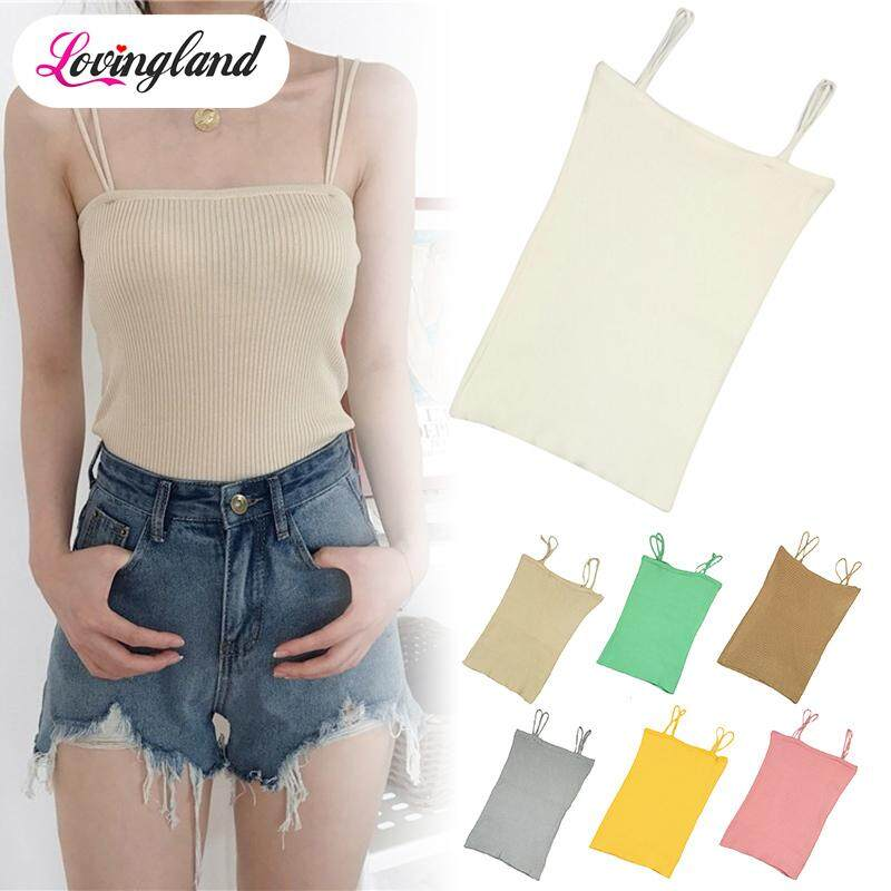 d7d1f26229e28 LD Summer Camisole for Women Slim Sleeveless Strap Tank Top Minimalist Style
