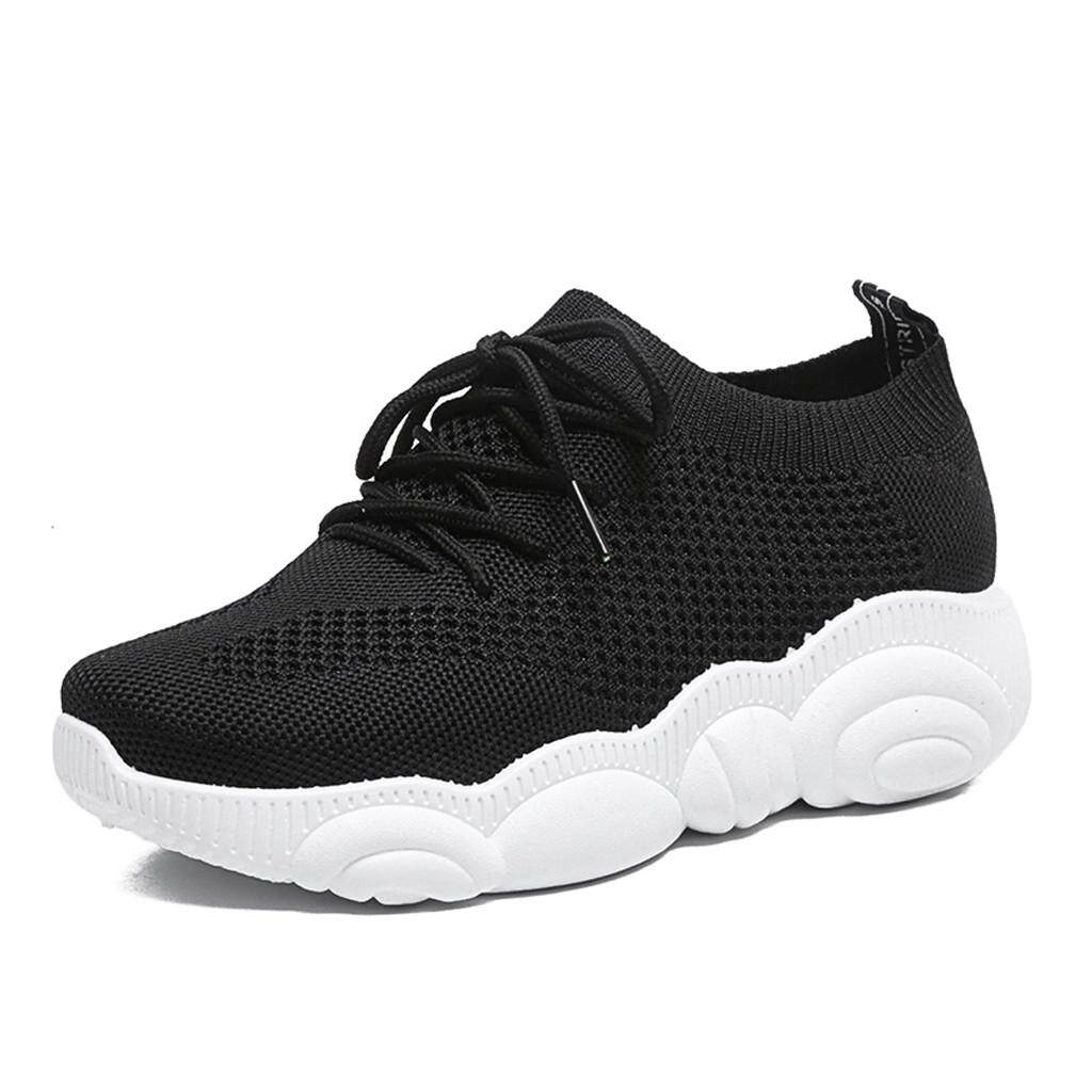 Dyerstore-Womens Ladies Summer Cartoon Bear Sole Flat Casual Mesh Sport Shoes Sneakers By Dyerstore.