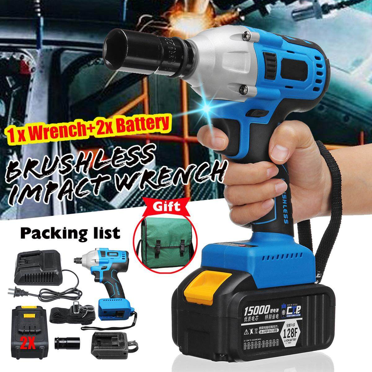 15000mAh Lithium-Ion battery 1/2 Bit Holder 340 N.m Brushless Impact Wrench