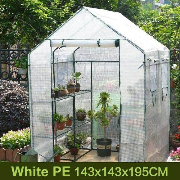 Big Portable Plant Shelf Garden Greenhouse Steel Frame Floral shelf Succulent Pot Rack 3 Tiers 6 Shelves Warm Greenhouse Flower Plants Outdoor Greenhouse Complete Set Sprouts Nursery Insulation Shed, Conservatory, Glasshouse, Hothouse, Warm House