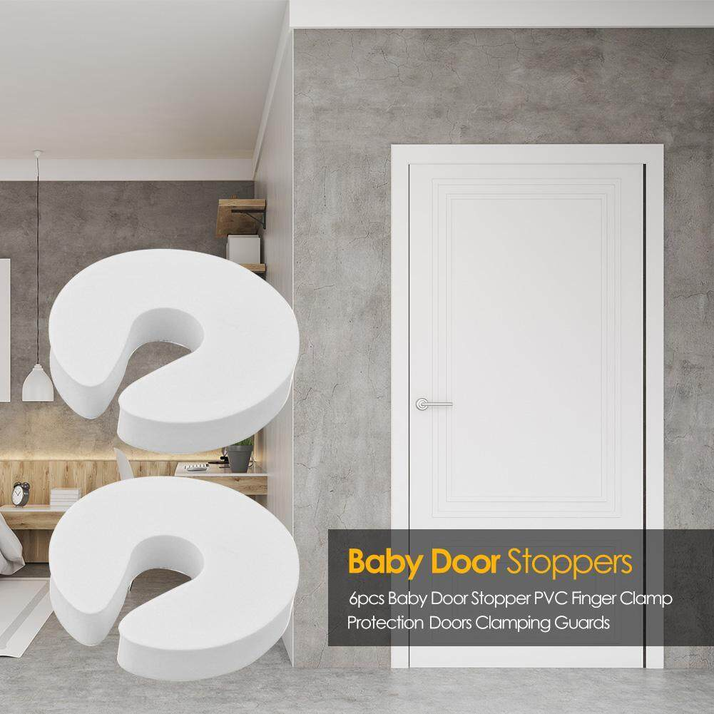 6pcs Baby Door Stopper PVC Finger Clamp Protection Doors Clamping Guards