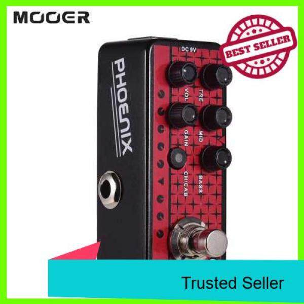 Mooer MICRO PREAMP Series 016 PHOENIX Digital Preamp Preamplifier Guitar Effect Pedal Cabinet Simulation Dual Channels 3-Band EQ with True Bypass (Standard) Malaysia