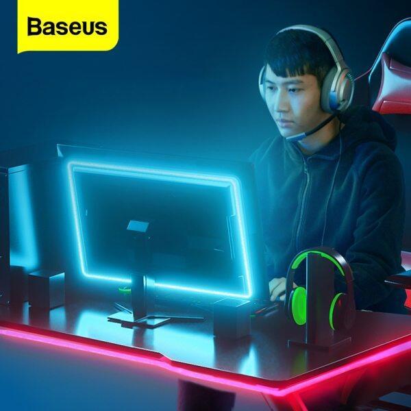 Baseus USB LED Strip RGB 5050 Flexible LED Light Changeable Computer Game/TV/Bedroom Background Lighting DC5V RGB Color Living Room