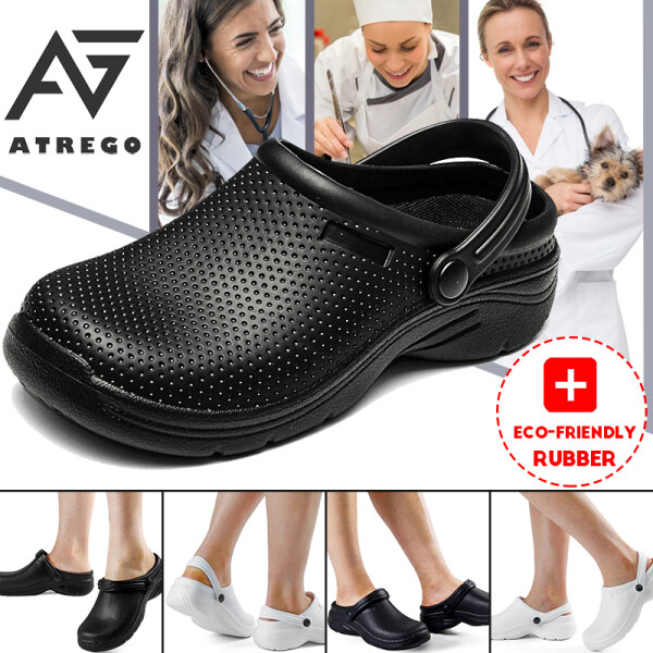 AtreGo Women Chef Doctor Work Shoes Nursing Kitchen Non-Slip Waterproof Shoes
