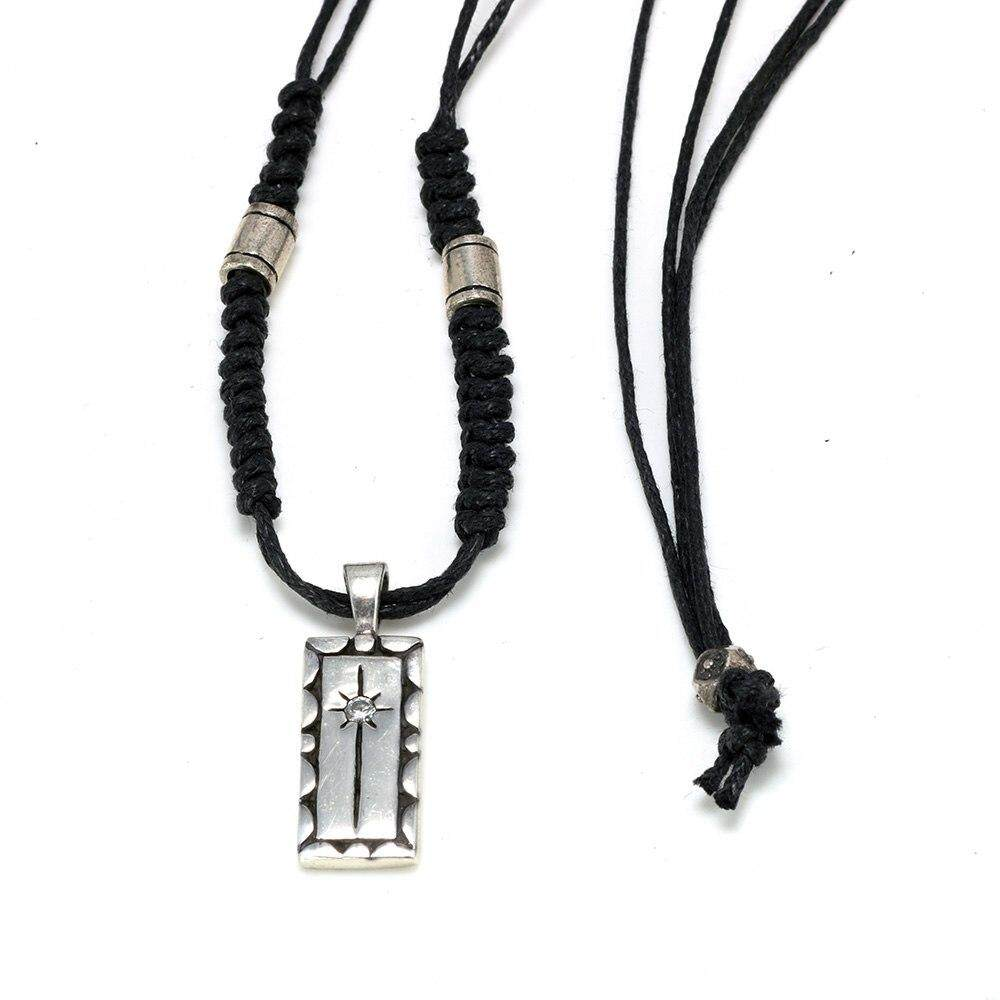 Necklaces & Pendants Real 925 Sterling Silver Vintage Punk Necklace Rope Chain For Men And Women Cubic Zircon Fashion Jewelry