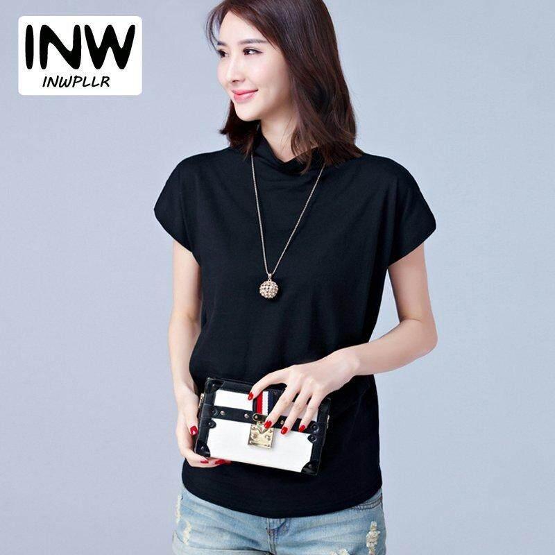 e09c4ad3534dea INWPLLR New Summer Tshirts Women Short Sleeve Cotton Ladies Tee Tops Causul Women  Tshirt Plus Size