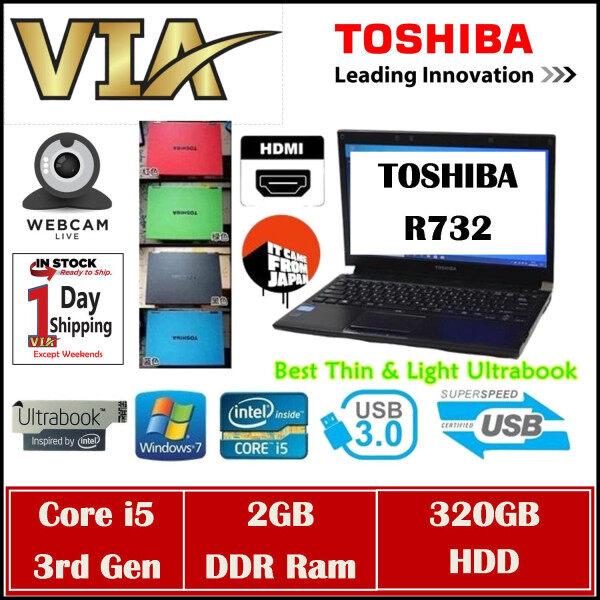 HDMI Toshiba UltraBook R732~CORE i5 (3rd GEN)~2GB DDR3~320GB HDD~13.3~Slim~Lightweight~USB 3.0 Malaysia
