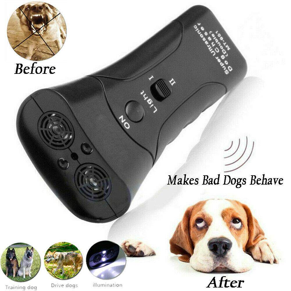 Dog Train Repeller Control LED Trainer Ultrasonic Anti Bark Device Stop Barking