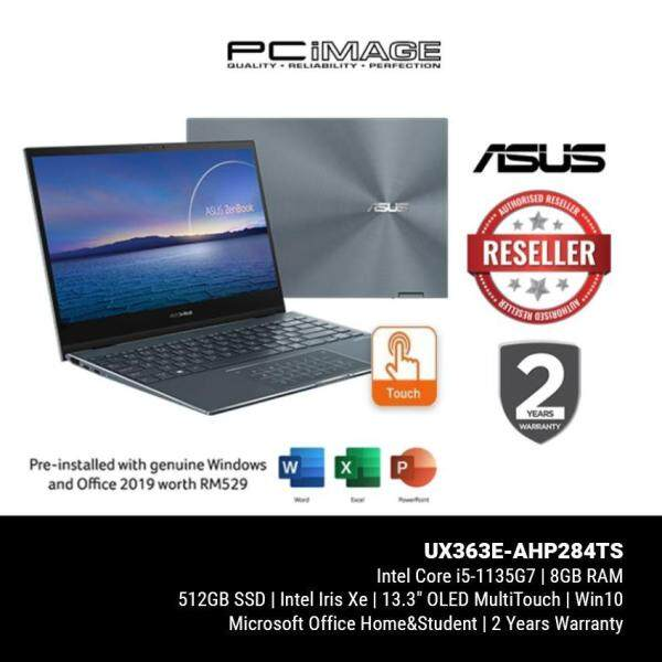ASUS ZENBOOK FLIP 13 (UX363E-AHP284TS)/ i5-1135G7/ 8GB RAM/ 512GB SSD/ Intel® Iris Xe Graphics/ FHD/ 2 Yrs Warranty Malaysia
