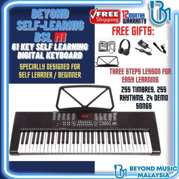 BSL M-1 61 Key Self Learning Portable Keyboard Organ Electronic Music Piano (M1/MK2117/M-1/MK-2117) Malaysia