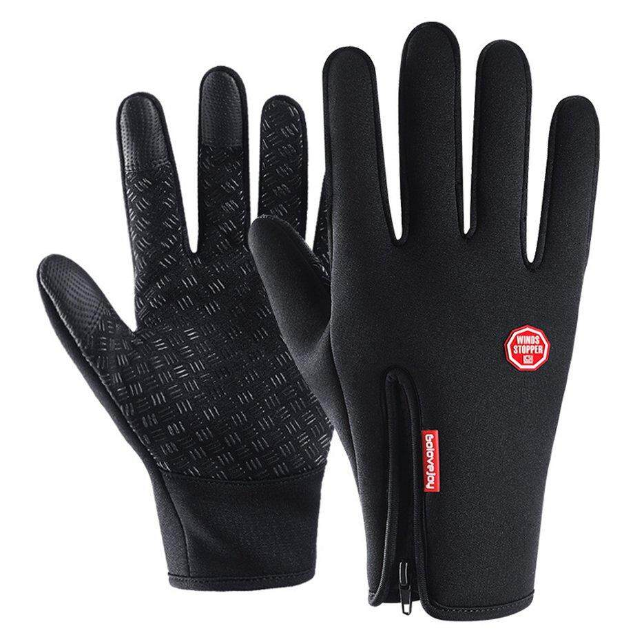 Crazy Deal Waterproof Leather Ski Gloves Screen Touch Gloves Warm Non Protection slip