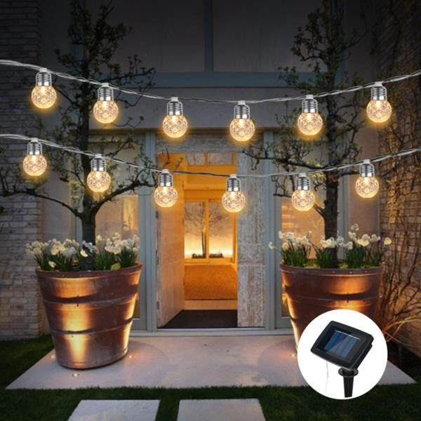 Solar Powered Super Bright Outdoor Streets Warm White Led Romantic Waterproof Light String