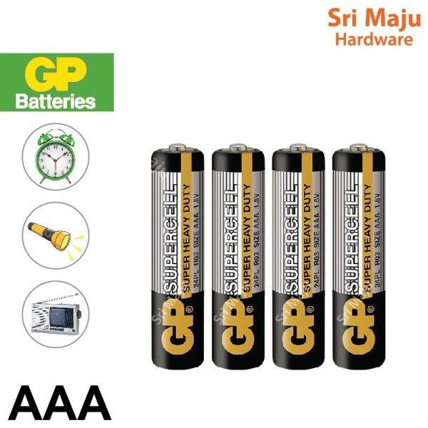 MAJU Original GP AAA Battery for Remote Flashlight Wall Table Clock Bateri AAA
