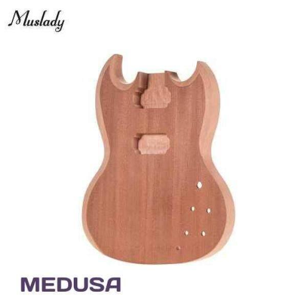 [ MEDUSA ] Muslady SG-T1 Unfinished Guitar Body Mahogany Wood Blank Guitar Barrel for SG Style Electric Guitars DIY Parts (Standard) Malaysia