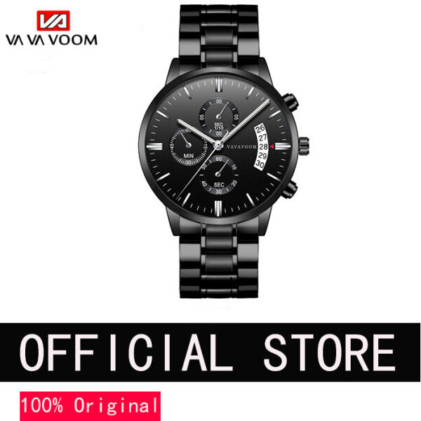 VA VA VOOM Business Watch for Men Wristwatch Fashion Jam Tangan Lelaki Waterproof Japan Movement Calendar Stainless Steel Strap Malaysia