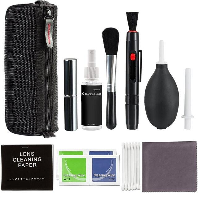 Camera Cleaning Kit Equipment Photo Clean Brush Set Professional Fan Non-Toxic Practical Digital Camera Cleaner Tools.