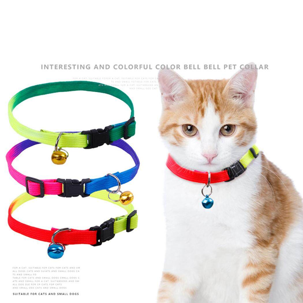 3 CHIẾC Vòng Cổ Thú Cưng Nặng Nylon Điều Chỉnh Cổ Cho Chó Mèo Cổ có Chuông, màu Ngẫu Nhiên - 2
