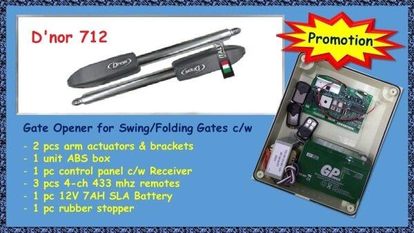 Dnor 712 Autogate Swing/Folding Gate System Dnor FULL SET