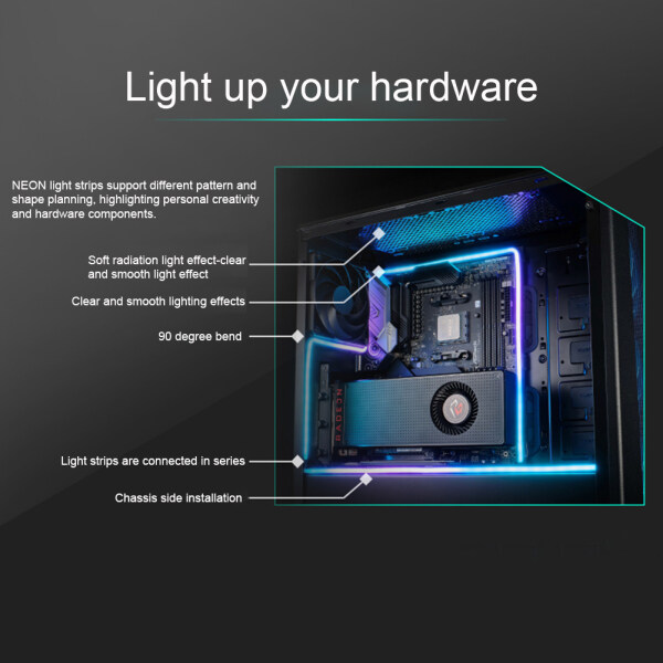 550mm 5v Digital RGB Full Color Range 3Pin Multipurpose Flexible Mounting Addressable PC DIY Accessories Computer Cases Controller Motherboard Easy Install LED Light Strip
