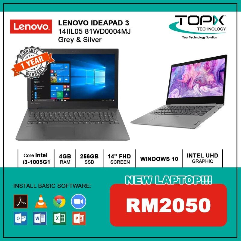 LENOVO IDEAPAD 3 14IIL05 81WD0004MJ GREY & SILVER Malaysia
