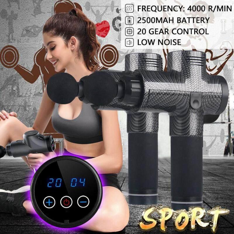 Bảng giá Tiếng LAZ Tập Gym 20 Bánh Răng Điều Chỉnh Tốc Độ Điện Thư Giãn Cơ Máy Massage Percussive Cơ Máy Massage Với 4 Máy Mát Xa Đầu