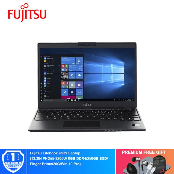 Fujitsu Lifebook U939 Laptop - L00U939MYRB6A0289 (13.3IN FHD/i5-8265U/ 8GB DDR4/256GB SSD/Finger Print/920G/Win 10 Pro) + Free Premium Gifts Malaysia