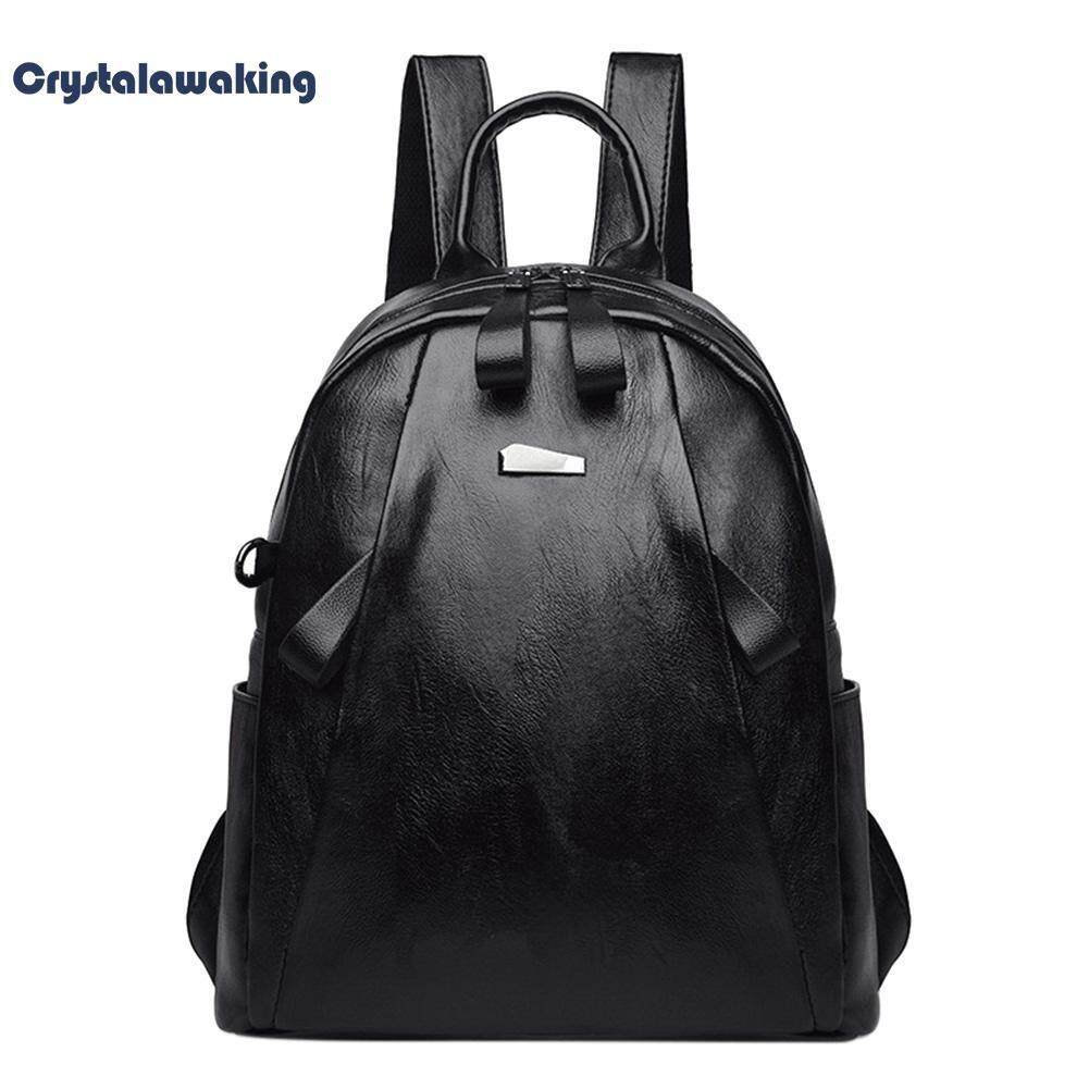 Fashion Women PU Leather Shoulder Bag Teenage Girl College Daypack Backpack