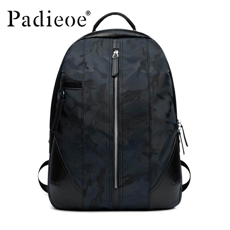 Padieoe Men Backpacks Casual Canvas Backpacks Men Youth Backpack Large  Capacity Waterproof Large Capacity Travel Backpacks 5f006e742821b