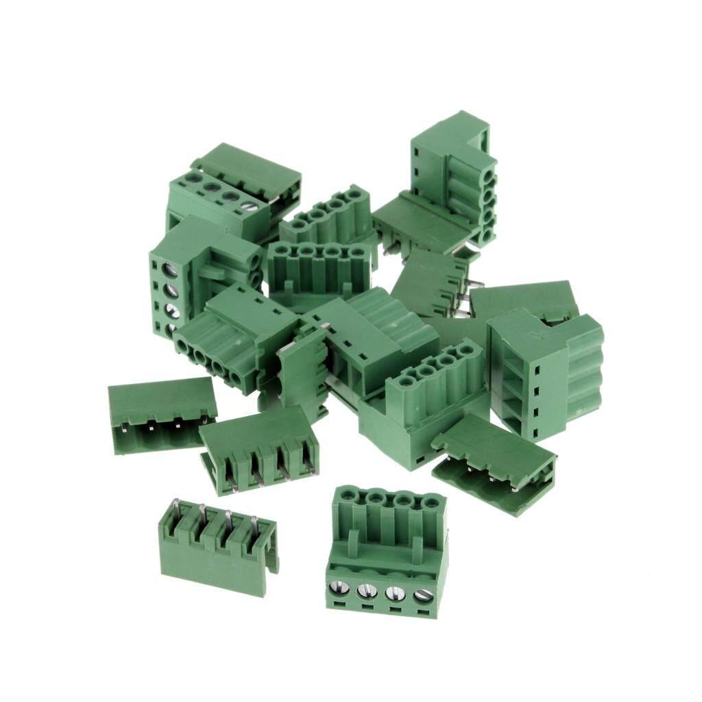BolehDeals 10pcs 5.08mm Straight 4 pin Screw Terminal Block Connector Pluggable Type