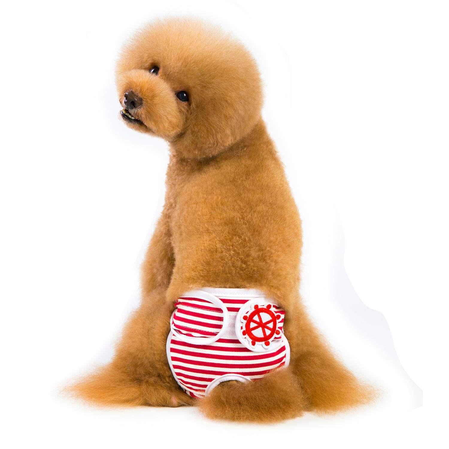 Go-fifteen Reusable Washable Dog Diapers of Durable Doggie Diapers,Comfy And Stylish Dog