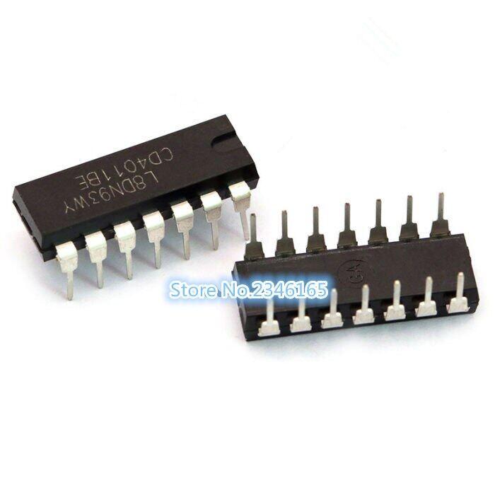 10 Cái Cd4011be Cd4011 Dip-14 4011 Quad 2-Cổng NAND IC Đầu Vào