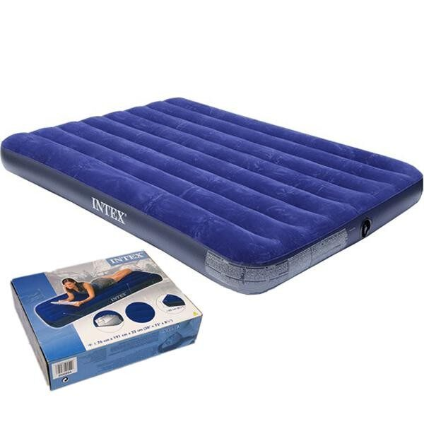 Inflatable Air Bed Mattress Sleeping Intex 68757 By Blue Sand.