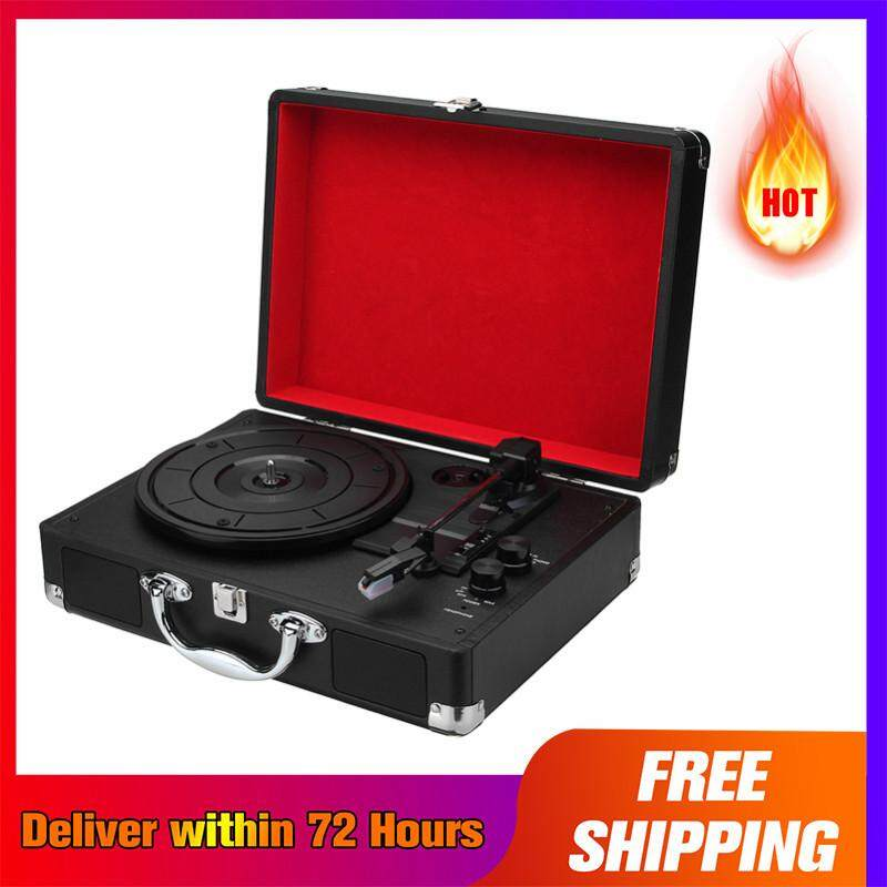 【Free Shipping + Super Deal + Limited Offer】Retro bluetooth 33 Rpm Vinyl LP  Record Player Turntable Suitcase Stereo Speaker