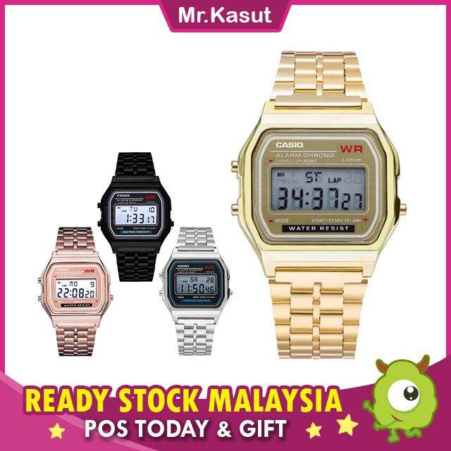 Mr.Kasut Digital Women Wrist Watch Women Men Stainless Steel Jam Tangan Wanita JT CAXIO RESIST Malaysia