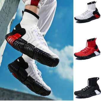 2019 แฟชั่น High CUT ถุงเท้าข้อเท้ารองเท้าสตรีทสไตล์ผู้ชายรองเท้ากีฬา