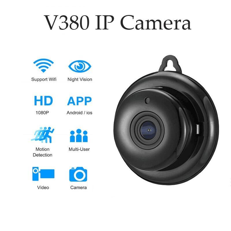 Mini Máy Ảnh Camera IP Không Dây An Ninh Gia Đình Wifi 1080P Khe Cắm Thẻ SD Phát Hiện Chuyển Động Tầm Nhìn Ban Đêm Hồng Ngoại CCTV Âm Thanh V380 Ứng Dụng