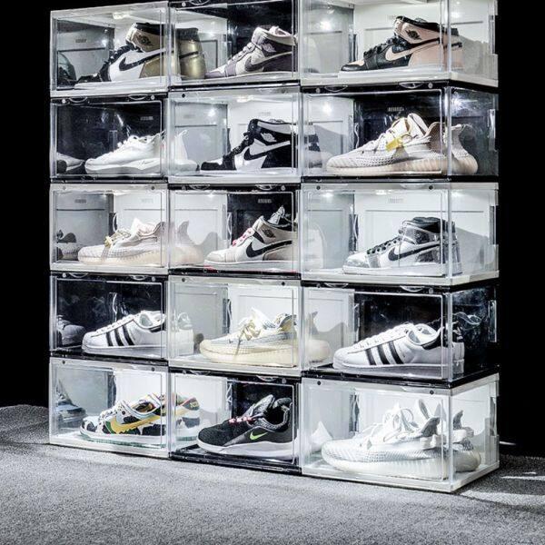 LED Shoes box shoes rack storage box声控发光AJ鞋盒