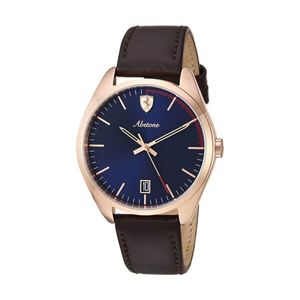 Scuderia Ferrari Abetone 42mm Blue Dial Brown Leather Mens Watch 0830500 Malaysia