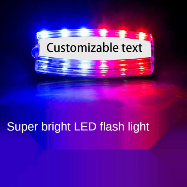 Bảng giá Outdoor LED Red And Blue Flashing Shoulder Clip Signal Light Security Patrol Flashing Light Multifunctional Warning Shoulder Flashing Light