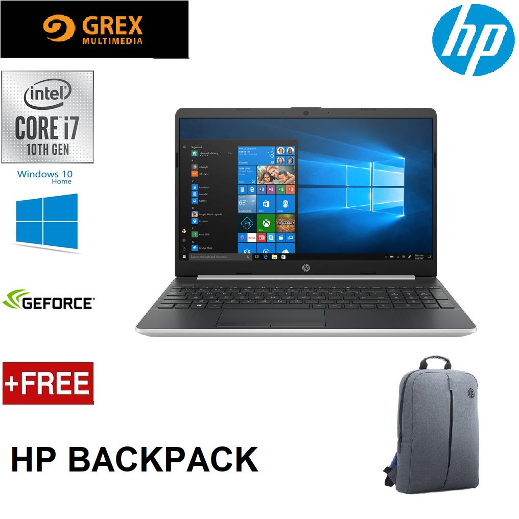 HP ESSENTIALS 15S-DU1059TX LAPTOP (I7-10510U,4GB,512GB SSD,GEFORCE MX250 2GB,15.6 FHD,WIN10 ) FREE BACKPACK Malaysia