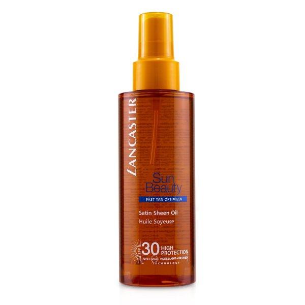 Buy LANCASTER - Sun Beauty Satin Sheen Oil Fast Tan Optimizer SPF30 150ml/5oz Singapore