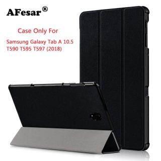 SM-T590 2018 Da PU Mỏng Bao Da Smart Case Cho Samsung Galaxy Tab A 10.5 T590 T595 T597 máy tính bảng Book Flip bao da ốp lưng nam châm đứng với Tự Động ngủ đánh thức thumbnail