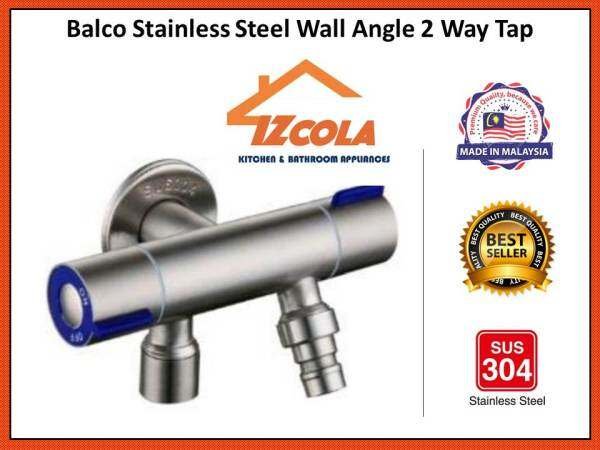 Balco Stainless Steel Wall Angle 2 Way Tap